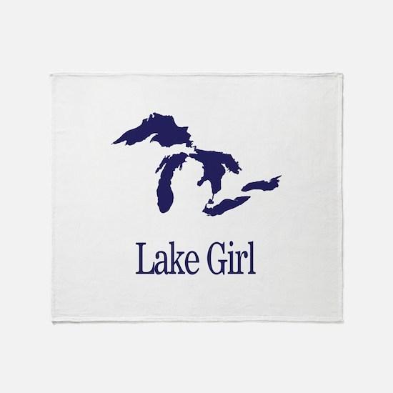Funny Lake Throw Blanket