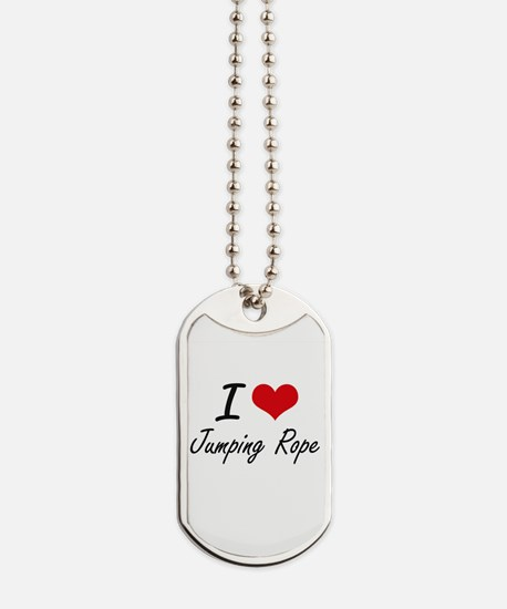 I love Jumping Rope Dog Tags