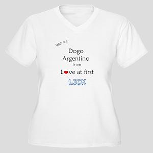 Dogo Lick Women's Plus Size V-Neck T-Shirt