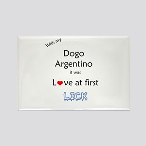Dogo Lick Rectangle Magnet