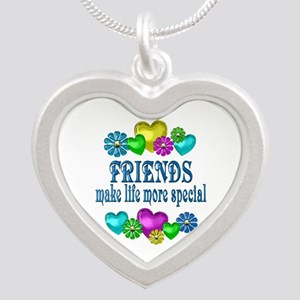 Friends More Special Silver Heart Necklace