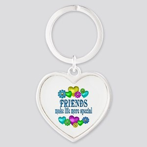 Friends More Special Heart Keychain