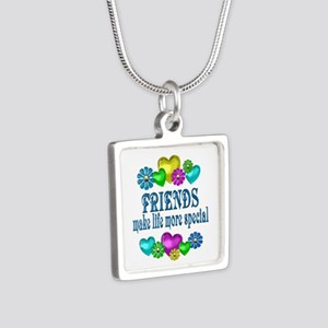 Friends More Special Silver Square Necklace