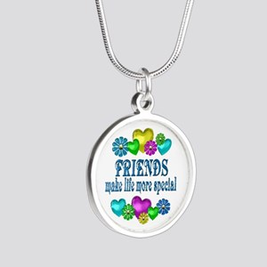 Friends More Special Silver Round Necklace