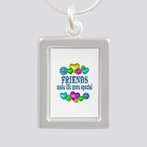 Friends More Special Silver Portrait Necklace