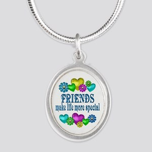 Friends More Special Silver Oval Necklace