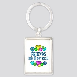 Friends More Special Portrait Keychain