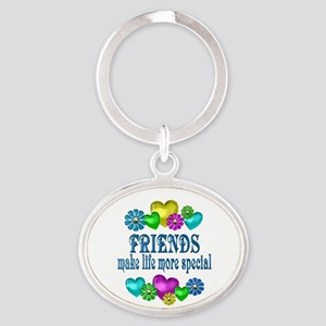 Friends More Special Oval Keychain