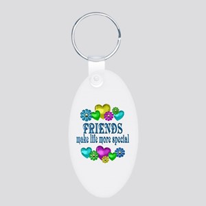 Friends More Special Aluminum Oval Keychain