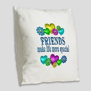 Friends More Special Burlap Throw Pillow