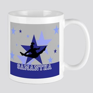Blue and Gray Cheerleader Mugs