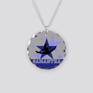 Blue and Gray Cheerleader Necklace