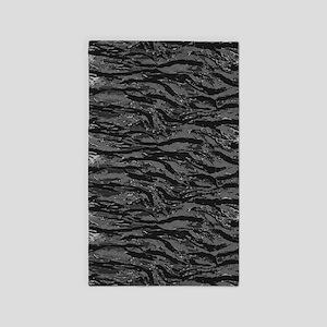 Gray Striped Camo Area Rug