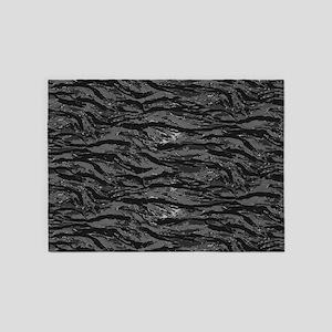 Gray Striped Camo 5'x7'Area Rug