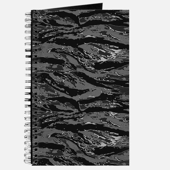 Gray Striped Camo Journal