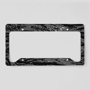 Gray Striped Camo License Plate Holder