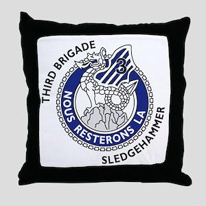 3rd Brigade - Nous Resterons Throw Pillow