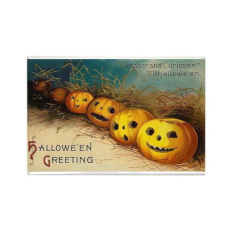 Pumpkin Row Rectangle Magnet