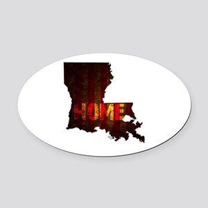 LOUISIANA HOME vintage two Oval Car Magnet