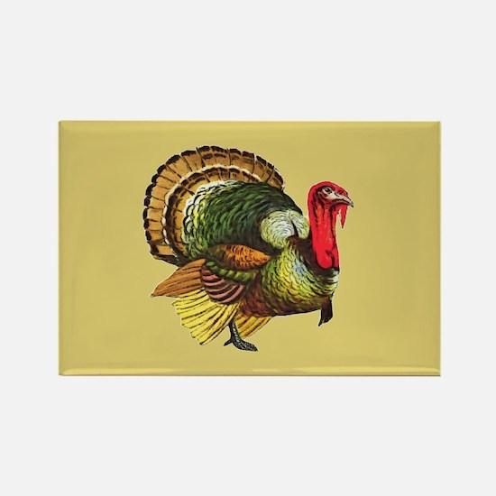 Thanksgiving Wild Turk Rectangle Magnet (100 pack)