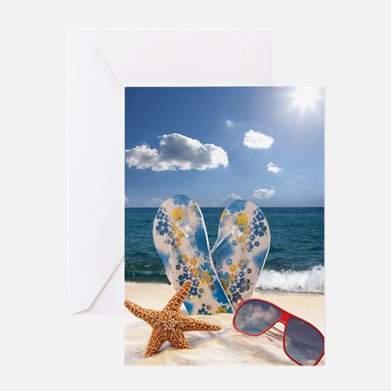 Summer Beach Vacation Greeting Card