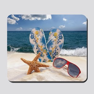 Summer Beach Vacation Mousepad