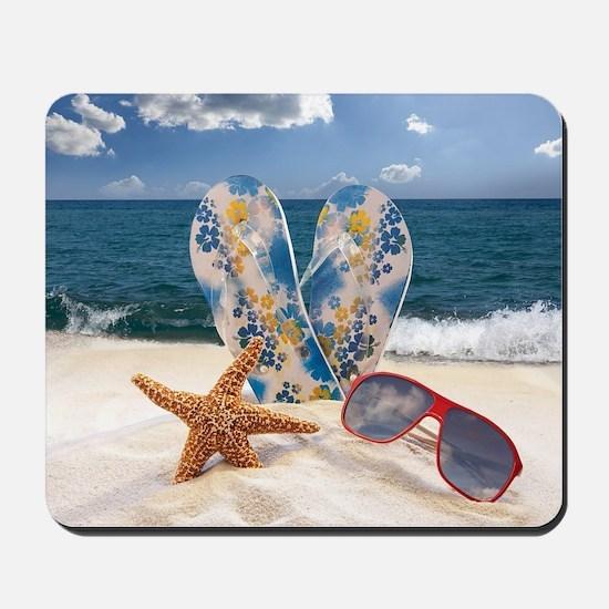 Summer Beach Vacation Mousepad