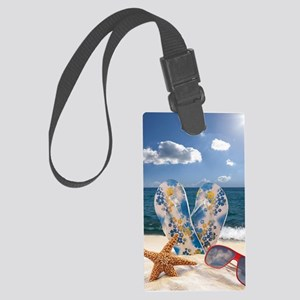 Summer Beach Vacation Large Luggage Tag