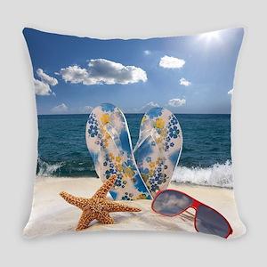 Summer Beach Vacation Everyday Pillow