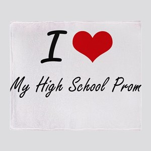 I love My High School Prom Throw Blanket