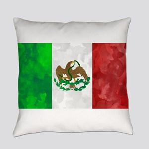 Mexican Flag Art Everyday Pillow