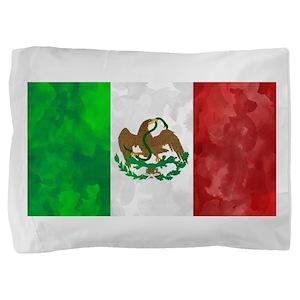 Mexican Flag Art Pillow Sham