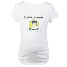 Horse Around 9 Ball Billiards Maternity T-Shirt