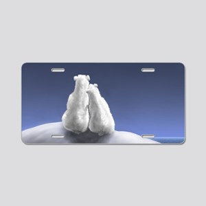 Polar Bears by Moonlight Aluminum License Plate