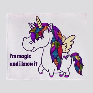 I'm Magic And I Know It Throw Blanket