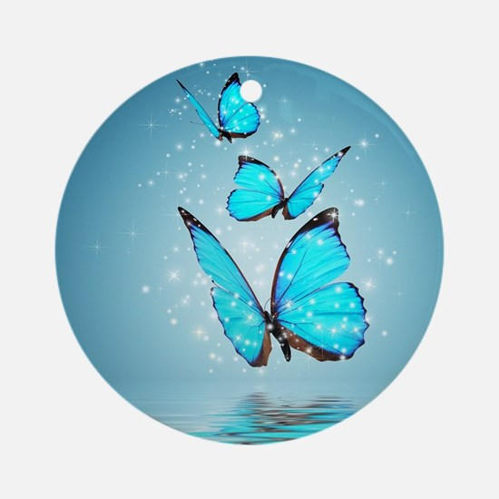 Magic Butterflies Round Ornament