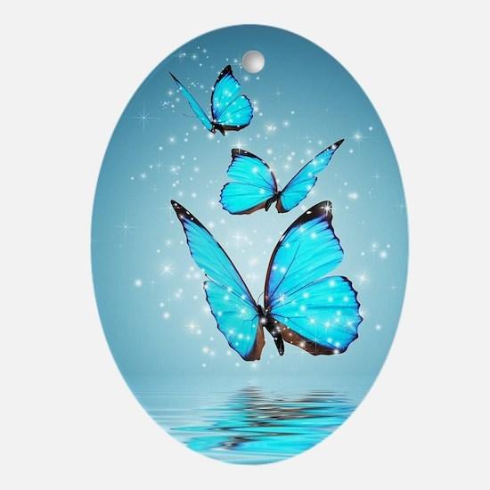 Magic Butterflies Oval Ornament