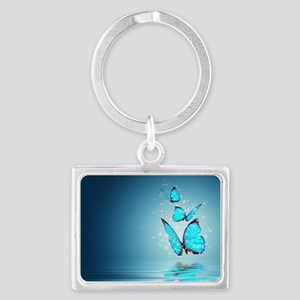 Magic Butterflies Landscape Keychain