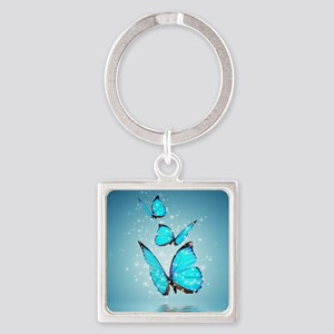 Magic Butterflies Square Keychain