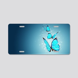 Magic Butterflies Aluminum License Plate