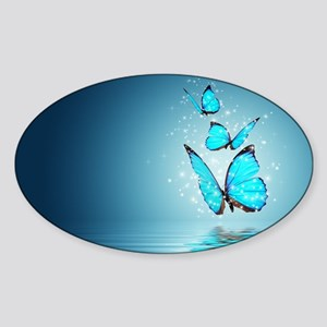 Magic Butterflies Sticker (Oval)