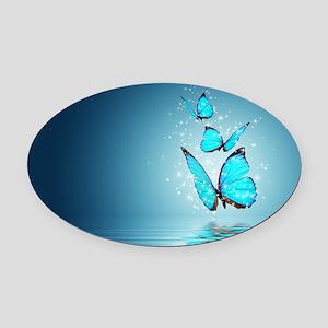 Magic Butterflies Oval Car Magnet
