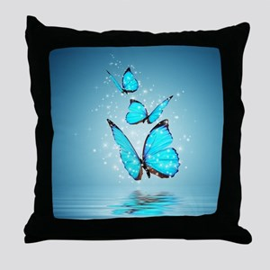 Magic Butterflies Throw Pillow