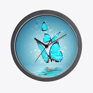 Magic Butterflies Wall Clock