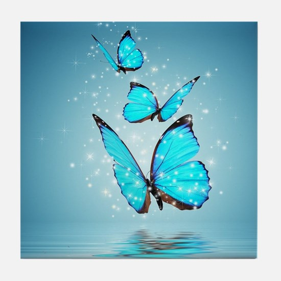 Magic Butterflies Tile Coaster