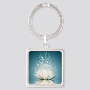 White Lotus Magic Square Keychain