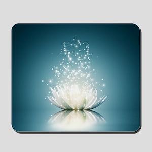 White Lotus Magic Mousepad