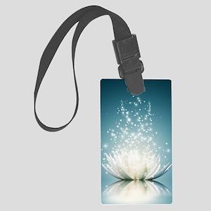 White Lotus Magic Large Luggage Tag