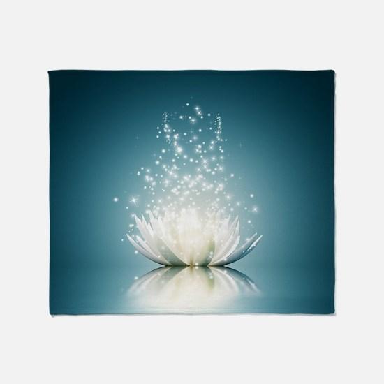 White Lotus Magic Throw Blanket