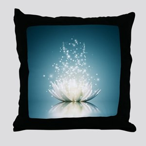 White Lotus Magic Throw Pillow